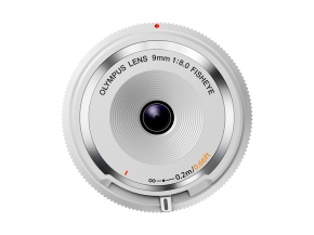 BCL-0980 9mm F8.0 Body Cap Lens White